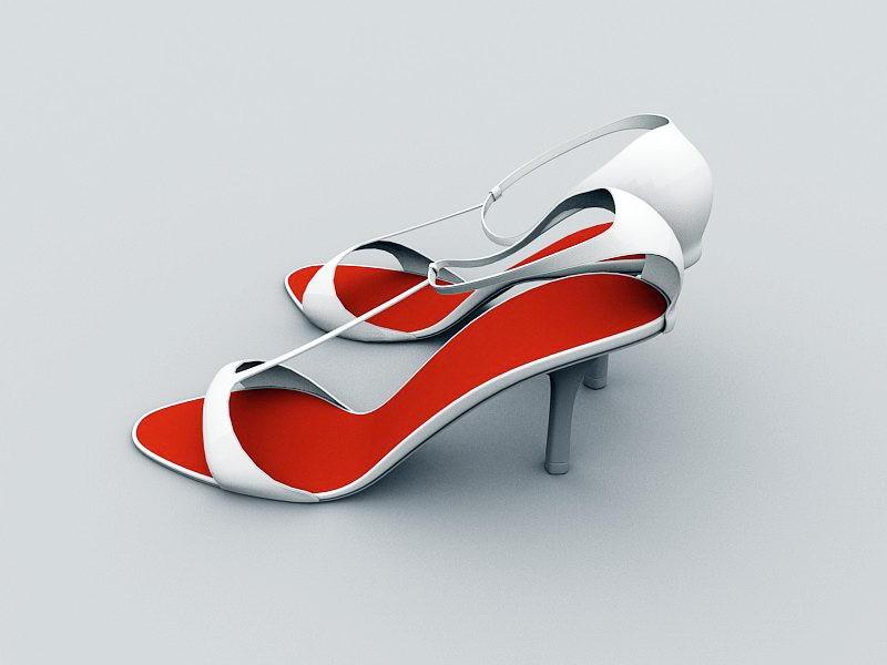 Women's Fashion Sandals 3d rendering
