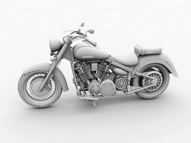Yamaha Touring Motorcycle 3d rendering