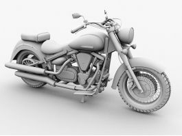 Yamaha Touring Motorcycle 3d preview