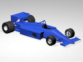 F1 Racing Car In Blue 3d preview