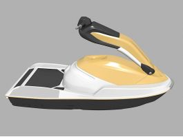 Water Scooter Boat 3d preview