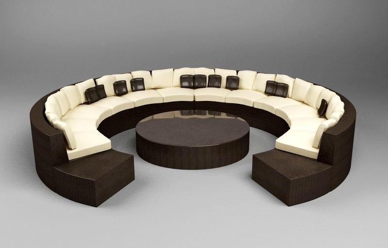 Modern Round Sofa 3d rendering