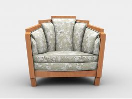 Vintage Upholstered Armchair 3d preview