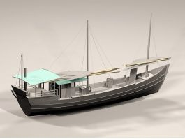 Old Fishing Vessel 3d preview