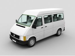 Full Size White Van 3d preview