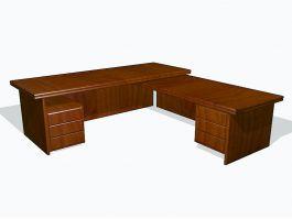 L-shaped Office Desk 3d preview