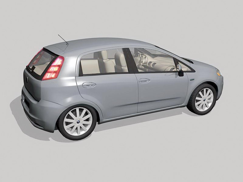 Fiat Punto Car 3d rendering