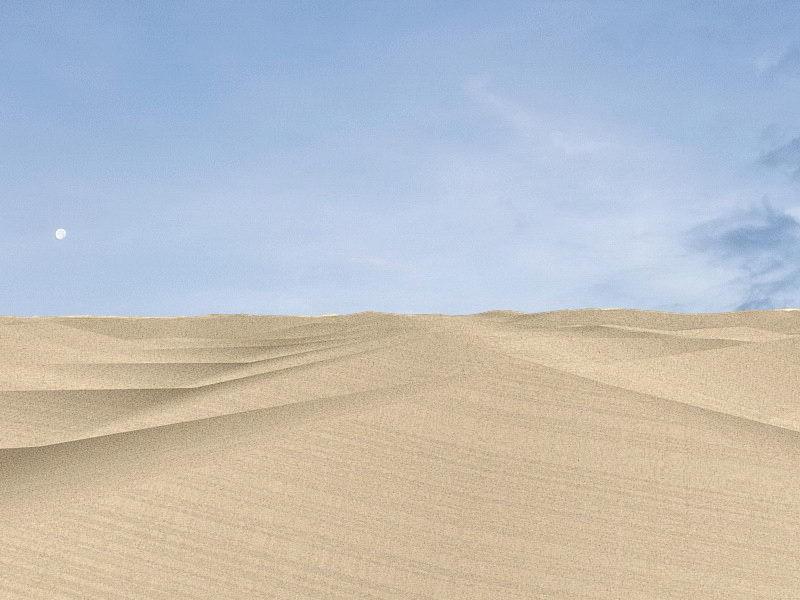 Desert Sand Dunes 3d rendering