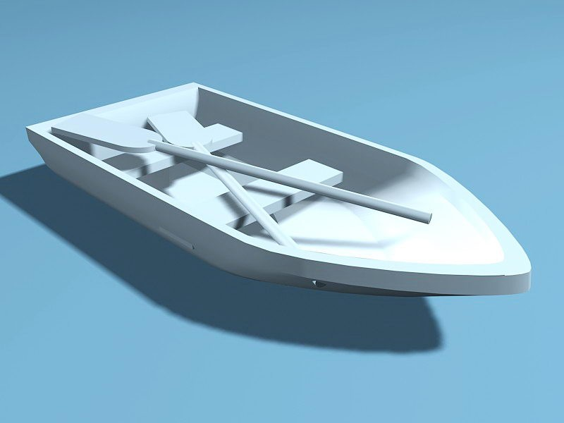 Lake Pond Boat 3d rendering