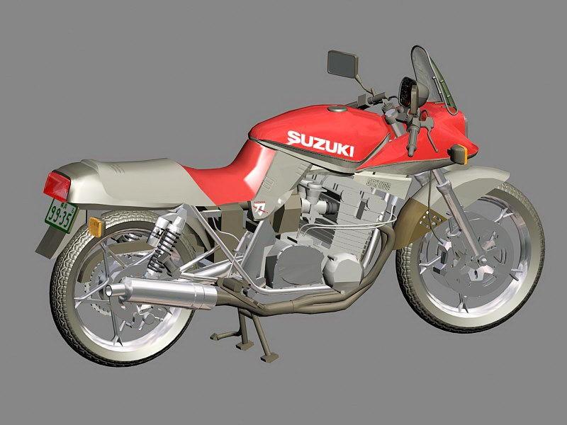 Suzuki Katana Motorcycle 3d rendering