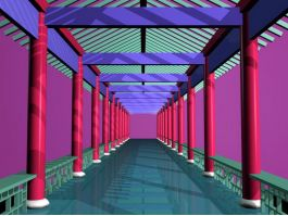 Traditional Chinese Corridors 3d preview