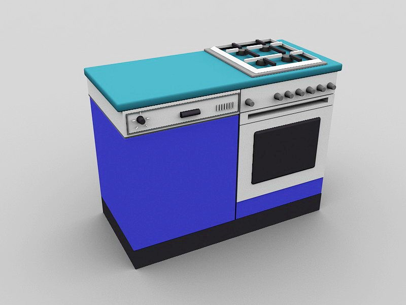 Cooking Stove 3d rendering