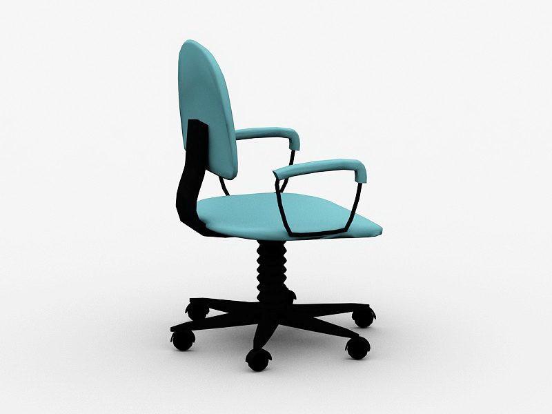 Fabric Desk Chair 3d rendering