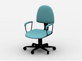 Fabric Desk Chair 3d preview