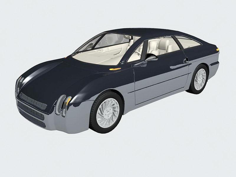 Luxury Sport Sedan 3d rendering
