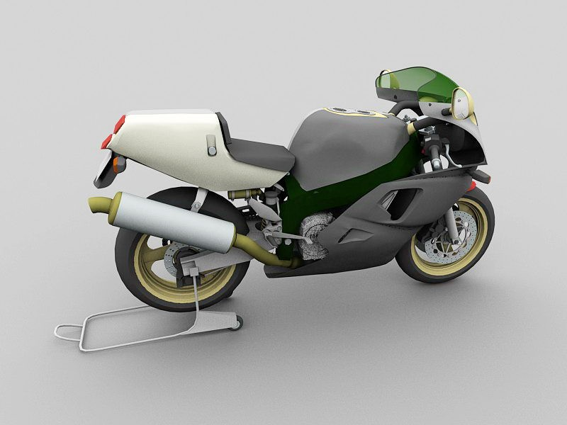 Yamaha YZF750R Motorbike 3d rendering