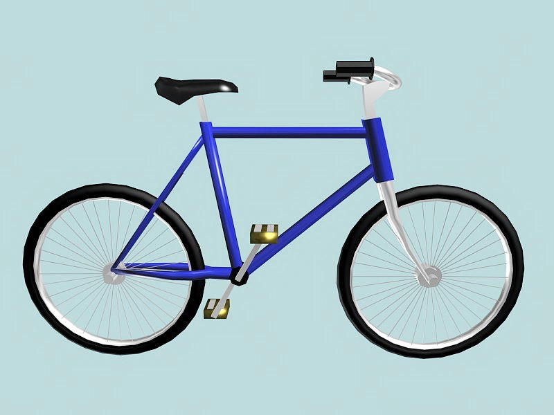 Single Speed Bicycle 3d rendering