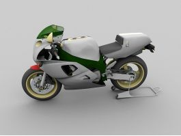 Yamaha YZF750R Motorbike 3d preview