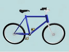 Single Speed Bicycle 3d preview
