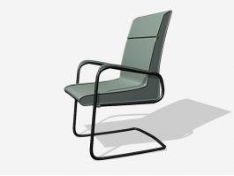 Office Cantilever Chair 3d model preview