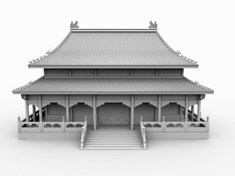 Chinese Royal Palace 3d rendering