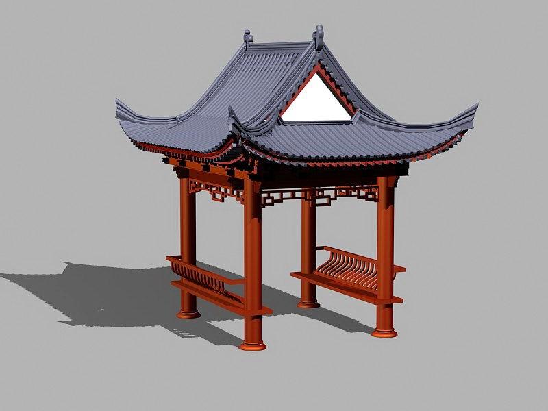 Oriental Pavilion 3d rendering
