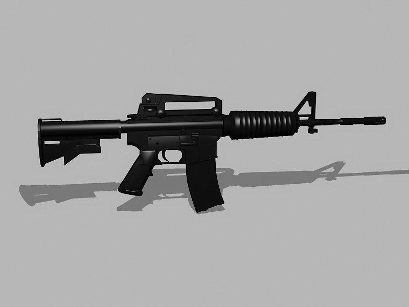 M4A1 Carbine 3d rendering
