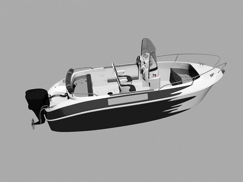 Power Boat 3d rendering