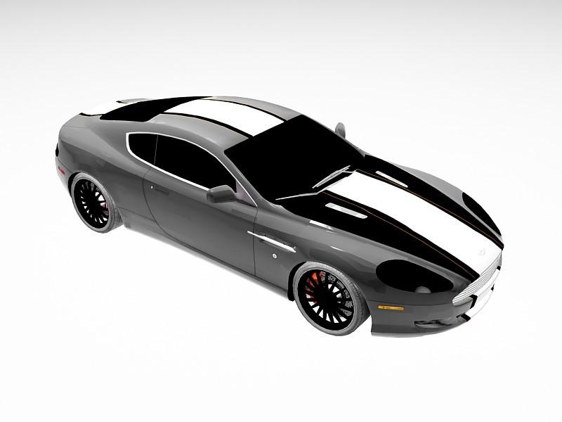 Aston Martin DB9 Race Car 3d rendering