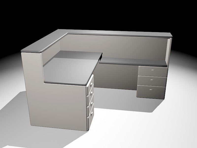 Modular Workstation 3d rendering