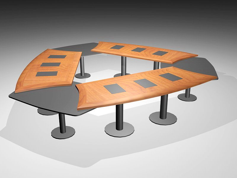 Conference Meeting Table 3d rendering