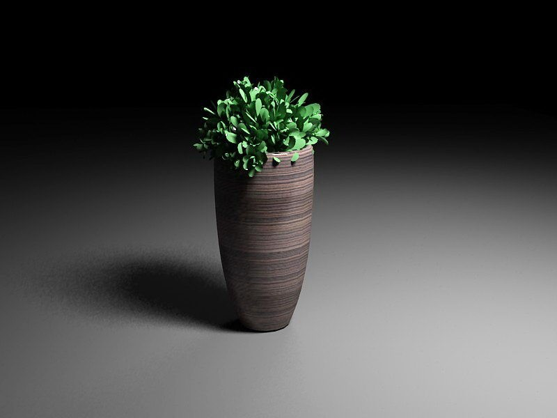 Tall Potted Plants 3d rendering