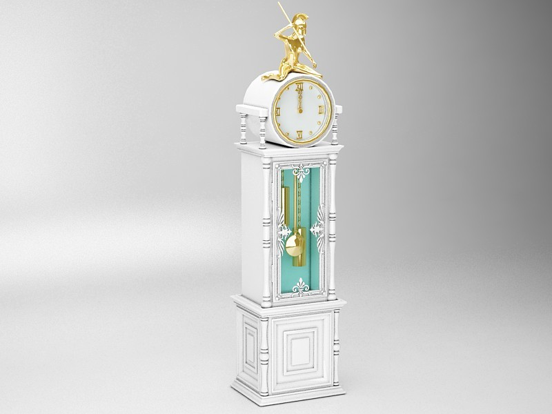 Antique Pendulum Clock 3d rendering