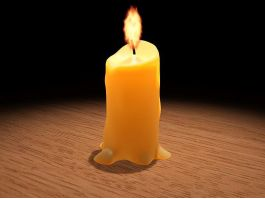 Burning Candle 3d preview