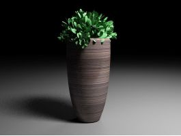 Tall Potted Plants 3d preview