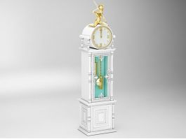 Antique Pendulum Clock 3d preview