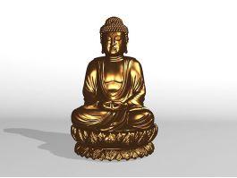 Golden Statue of Buddha 3d preview