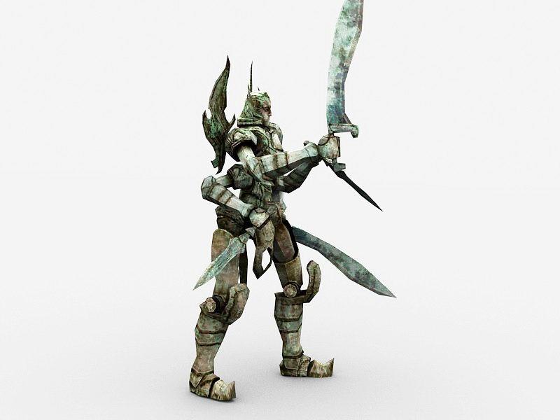 Golem Guard 3d rendering