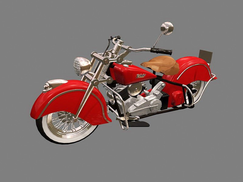 Indian Four Motorcycle 3d rendering