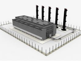 Old Factory Exterior 3d preview