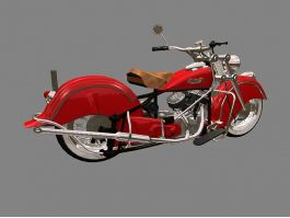 Indian Four Motorcycle 3d preview