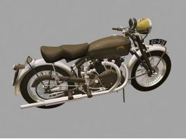 Vincent Black Shadow Motorcycle 3d preview