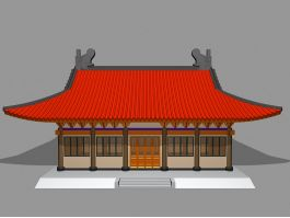 Chinese Buddhist Temple 3d preview