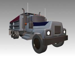 Vintage Dump Truck 3d preview