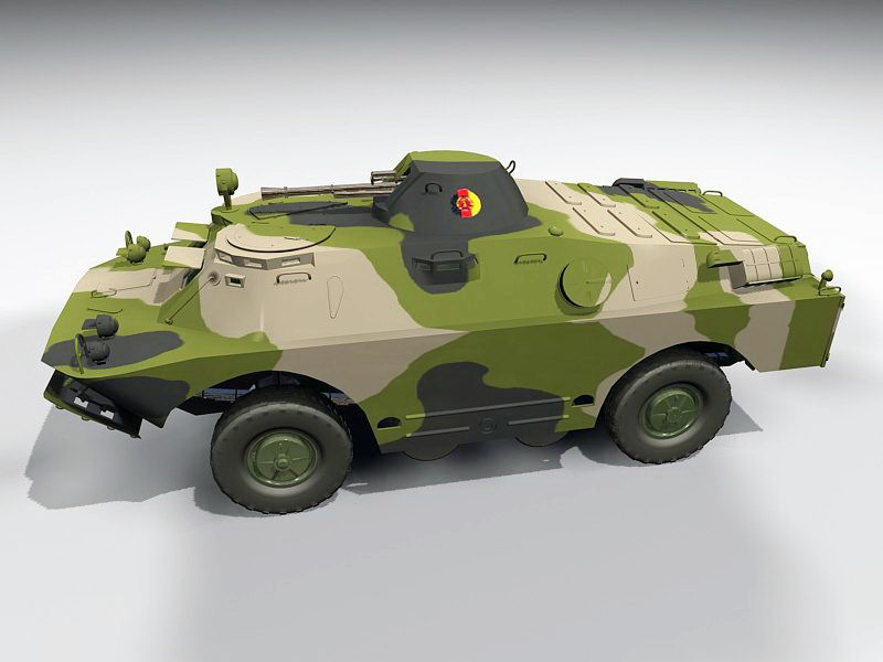 SPW-40 Armoured Personnel Carrier 3d rendering