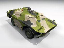 SPW-40 Armoured Personnel Carrier 3d preview