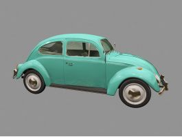 Old Volkswagen Beetle 3d preview