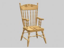 Antique Windsor Chair 3d preview