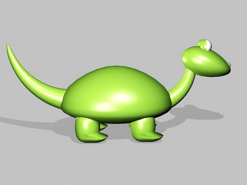 Toy Dinosaur Cartoon 3d rendering