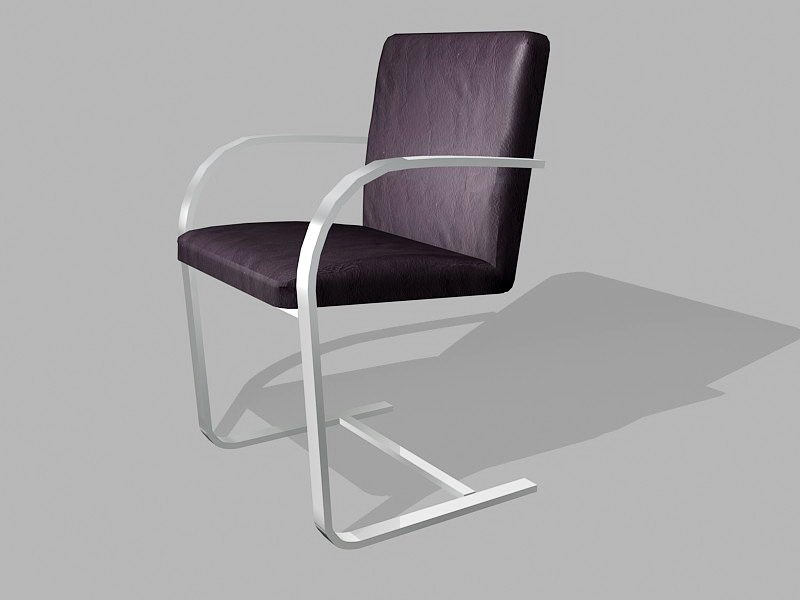 Cantilever Dining Chair 3d rendering